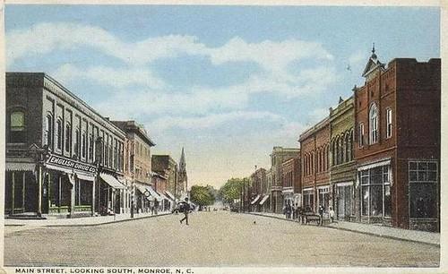 Monroe, NC - Main Street 1922