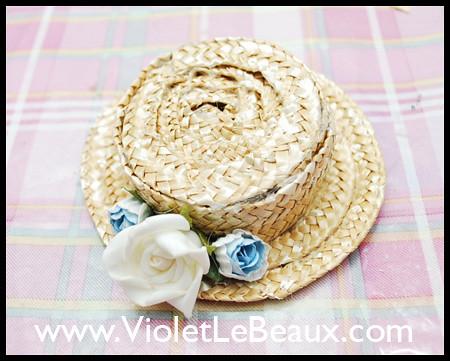 Blythe Boater Hat Tutorial