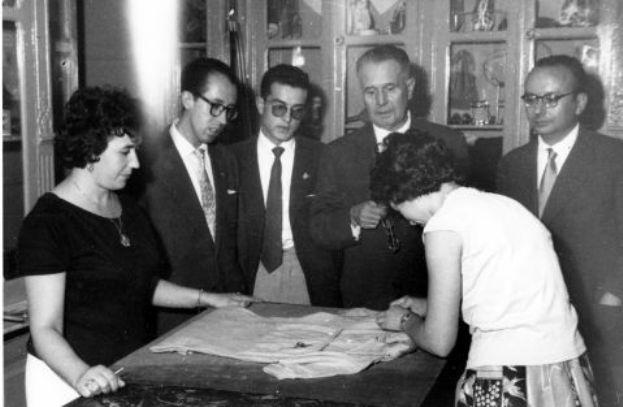 El Maillot de Bahamontes en el Tour de 1959 durante las celebraciones de la victoria