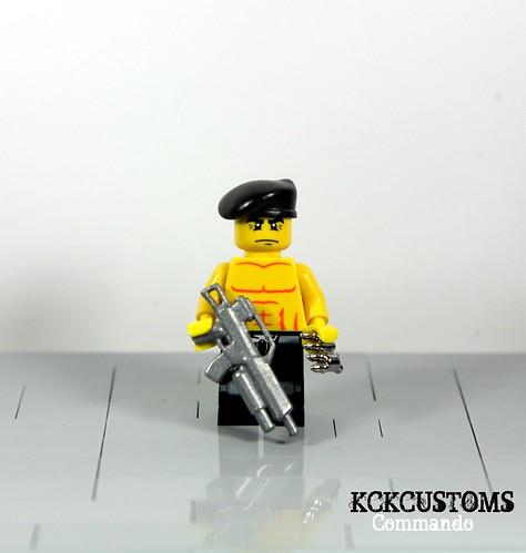 Custom minifig Commando custom lego minifigure