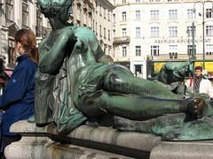 Segment, Donner Fountain in Neuer Markt square, Wien (Avocadoface) Tags: vienna fountain square austria sterreich brunnen wein neuermarkt donnerbrunnen donnerfountain georgraphael
