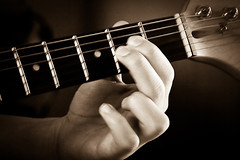Quick Fingers (MatkirschPhoto) Tags: music playing electric hand guitar fingers potd beatles strings strobist pentaxart