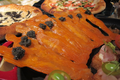 2011 Oscar Food: Smoked Salmon on Oscar Flatbread with Caviar and Creme Fraiche