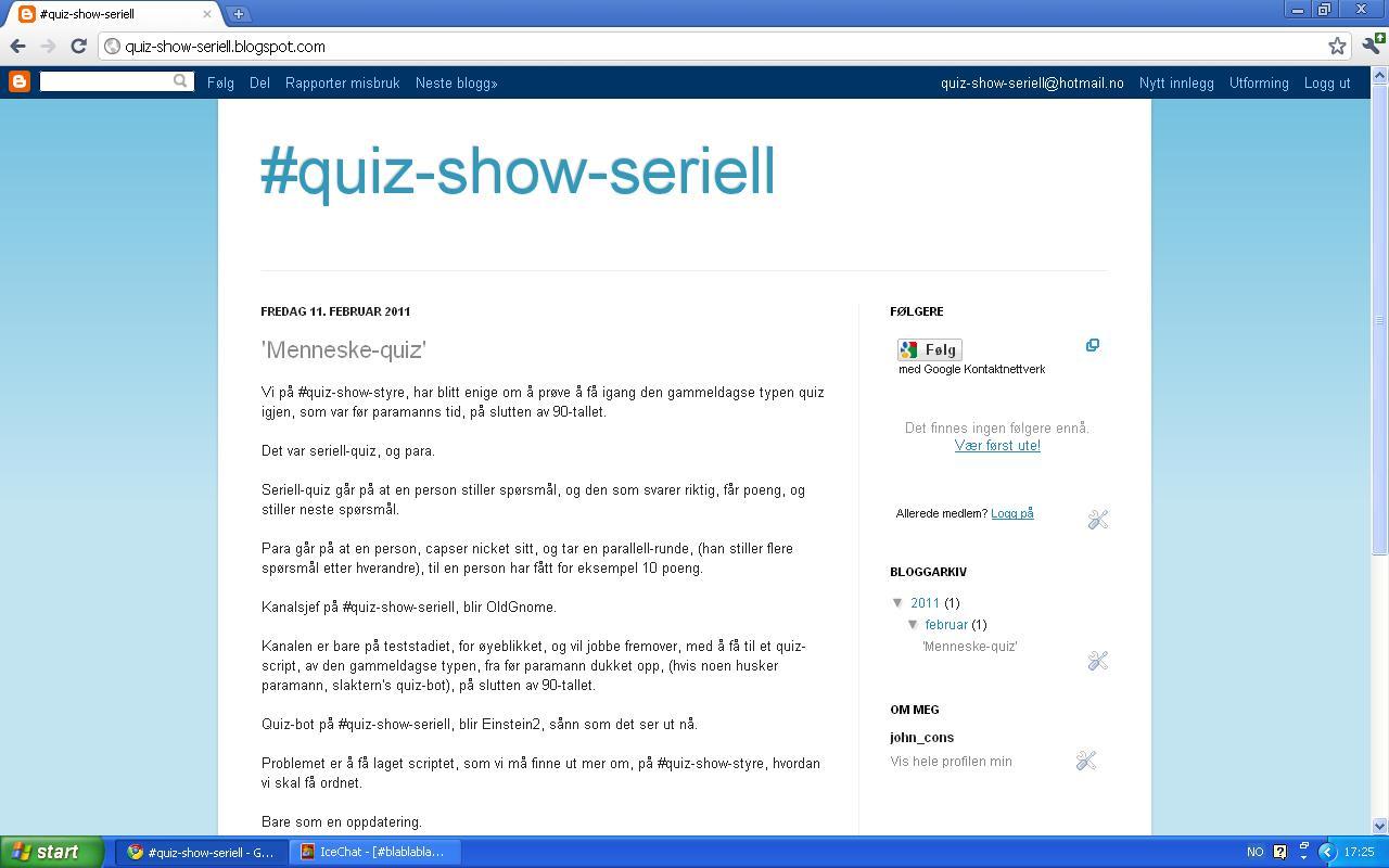 quiz show seriell