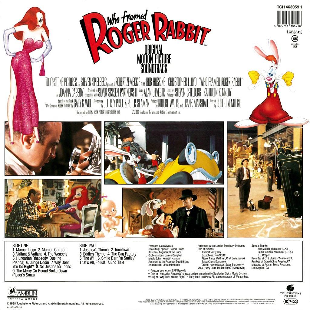 alan silvestri who framed roger rabbit - Who Framed Roger Rabbit Soundtrack