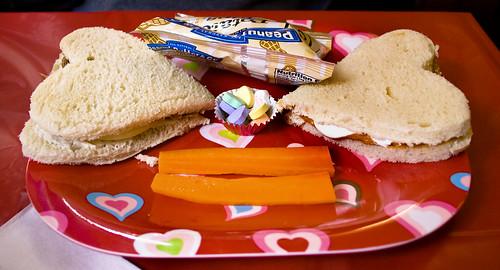 Valentine's Day Peanut Butter Sammies