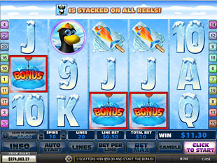 free Penguin Vacation slot scatters