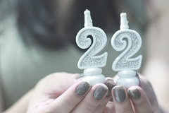 day fifty nine: sweet 22 (Anitah) Tags: birthday girl 22 hands candle sparkle aniversary anitah sweet22 lovesparkles byanitah