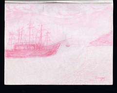 Barcos en la playa. Lápiz de color sobre papel. (valeriaserruya) Tags: arte art kunst konst artesvisuales artesvisuais visualarts dibujo drawing draw desenho dessin workonpaper artwork disegno lápiz lapiz dibujoalápiz dibujoamano lápizrosa pinkpencil lapis lapisrosa coloredpencil rosa pink rose bardolua crayonrose pencildrawing color colorful playa praia beach barcos ships