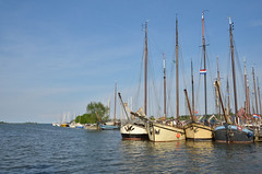 Masts (-Kj.) Tags: monnickendam netherlands town boat bikeride afternoon