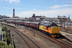 37219 Blackpool North 1st July 2017 (John Eyres) Tags: 37219 jonty jarvis taken blackpool north amongst soon be abolished semaphore siganlling after working srps 1z37 edinburgh with 37025 010717