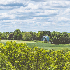 Beautiful seclusion (InkedCrow) Tags: secluded field house clouds landscape
