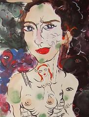 CHAQUE JOUR EST UN CADEAU...AVOIR CONFIANCE EN LA VIE (Claude Bolduc) Tags: outsiderart teen anorexia artsingulier visionaryart intuitiveart lowbrow selftaughartist autodidacte painting horsnorme surrealism artbrut