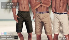 NEW! COLD ASH - CHINO SHORTS @ TMD JULY (coldashsl) Tags: sl menswear mens mesh clothing fashion male shop coldash cold ash tmd department project themeshproject slink physique signature gianni fittedmesh fitmesh belleza jake chino shorts