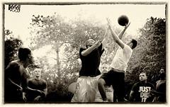 Determination (JDS Fine Art Photography) Tags: basketball game sport determination riseabove fierce goals monochrome memories shot competition winning drive hoops pickupgame fun
