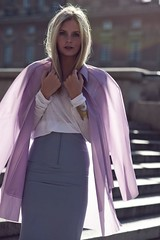 PVC or Thin Nylon....? (betrenchcoated) Tags: raincoat regenmantel regenjacke thin pu pvc beautifulgirl blonde