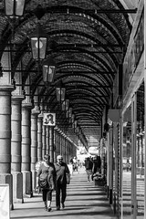 """summer in Hamburg / """"You can't always get what you want"""" (Özgür Gürgey) Tags: 2017 24120mm bw colonnaden d750 flickrfriday hamburg nikon summervacation architecture repetition shadows street germany"""