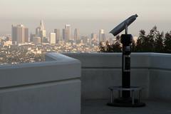 The Lonely Telescope (Mark Luethi) Tags: california skyline la losangeles cityscape skyscrapers binoculars observatory telescope socal hollywood southerncalifornia griffithpark griffithobservatory losangelesskyline laskyline