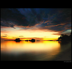 ...Remember the moment... (amlbuton) Tags: sunset sea sky seascape beach nature water clouds indonesia landscape landscapes nikon tokina pulau belitung lengkuas lengkuasisland d300s yourwonderland nikond300s