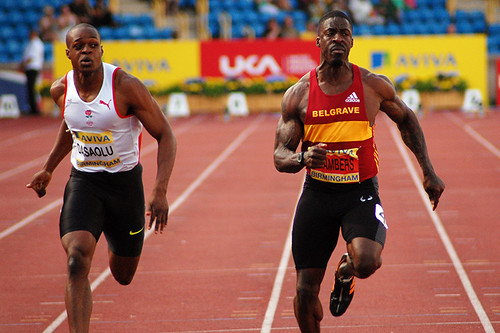 James Dasaolu and Dwain Chambers