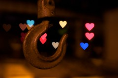 Hooked (glasseyepictures) Tags: blur color colour love colors beautiful field lensbaby out focus colorful dof angle heart bright bokeh wide valentine relationship colourful hook shape addiction depth composer oof