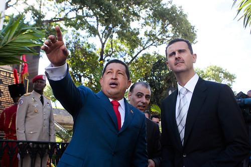 Hugo Chavez bei seinem Staatsbesuch in Damaskus