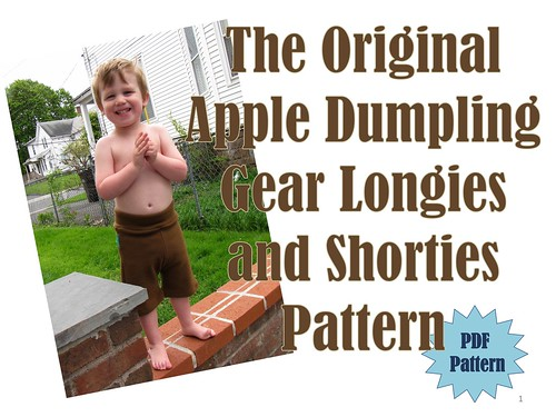 The Original Apple Dumpling Gear Longies and Shorties Pattern