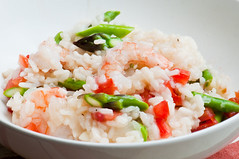 Risotto with Shrimp, Asparagus and Red Pepper