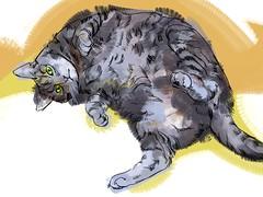 [フリー画像] グラフィックス, イラスト, 動物(イラスト), 猫・ネコ, 201007031100