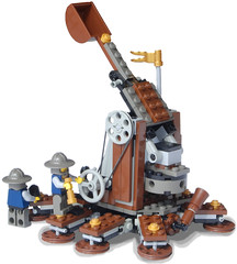 Medieval Self-Propelled Steam Trebuchet Walker (stationary) (aillery) Tags: self war lego military medieval steam walker artillery catapult propelled steampunk trebuchet