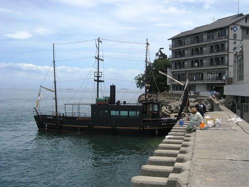 福山 鞆の浦 平成いろは丸、龍馬の乗った船で、仙酔島へ9
