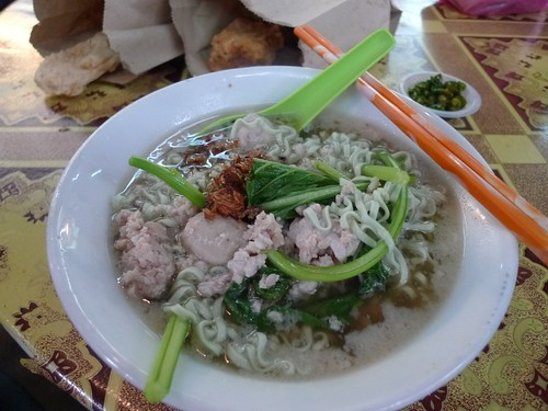 Spinach Pork Noodle