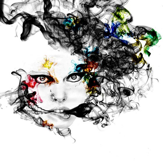 dibujos con efecto de humo