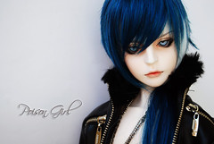 Ashlar - DOT Lahoo (-Poison Girl-) Tags: blue white black leather eyes doll dolls gothic goth super dot sd jacket wig bjd dollfie superdollfie dod poisongirl dreamofdoll balljointeddoll taltos ashlar lahoo dotlahoo dodlahoo dreamofteenager