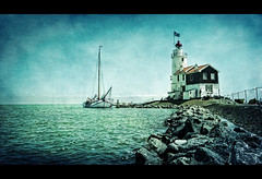 Lighthouse Scenery (Ruud van den Berg !) Tags: blue lighthouse holland green texture water nikon sailingboat coth paardvanmarken ruudvandenberg graphicmaster