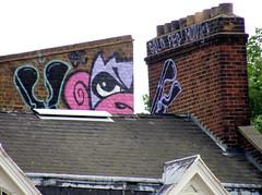 Gold Peg/Mighty Mo BC (delete08) Tags: street urban streetart london gold graffiti monkey bc delete mighty peg burningcandy goldpeg