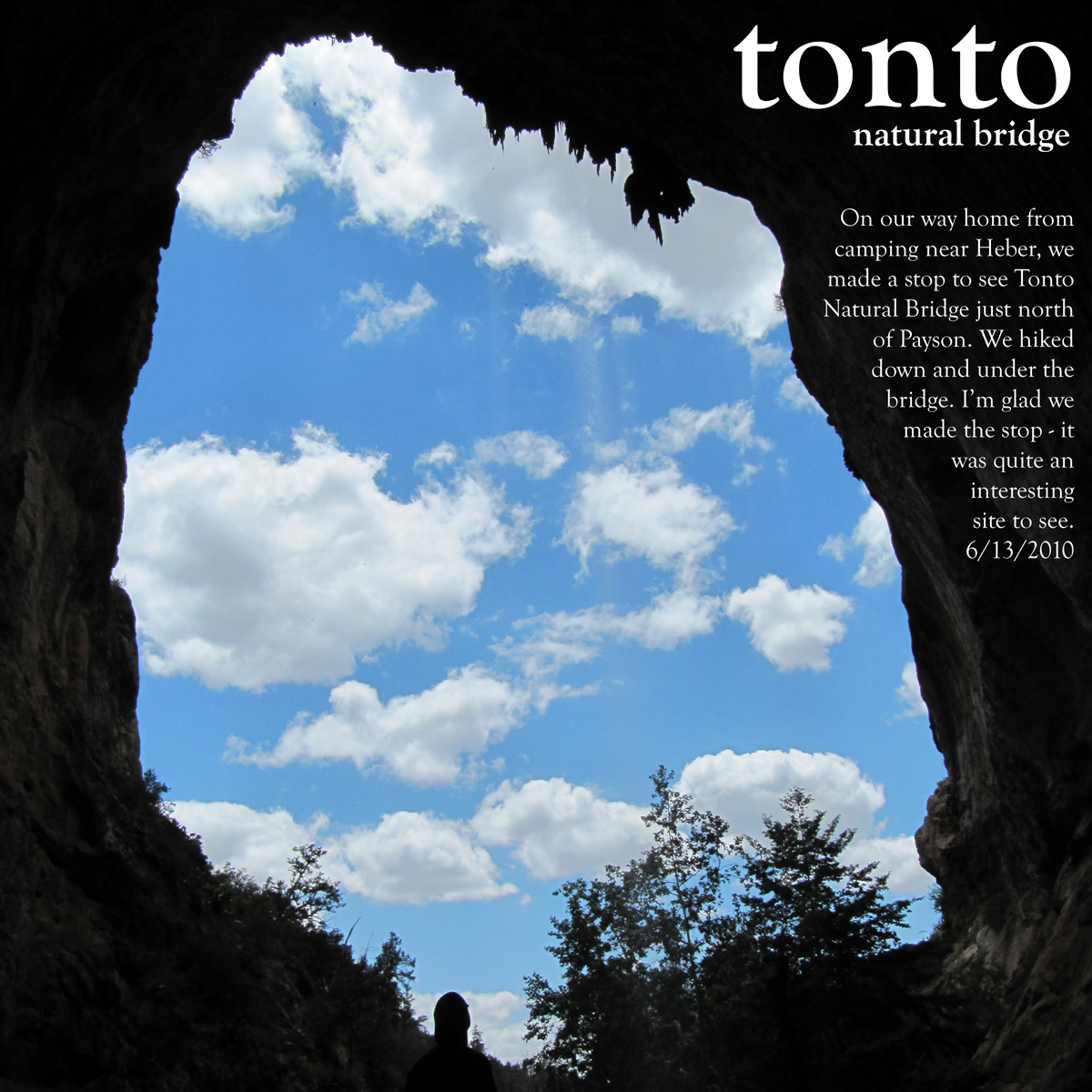 Tonto Natural Bridge Small