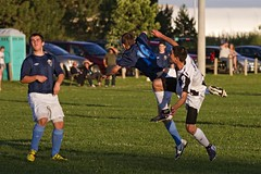 Airbourne (Rock Steady Images) Tags: boy ontario canada boys youth canon eos soccer 7d topaz alliston 25views 7pointsystem bypaulchambers photoshopcs4 southsimcoeunited rocksteadyimages