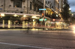 The ephemeral of time (Qayyum [Q ]) Tags: canon lights movement traffic auckland nz queenst hdr lighttrail 1000d