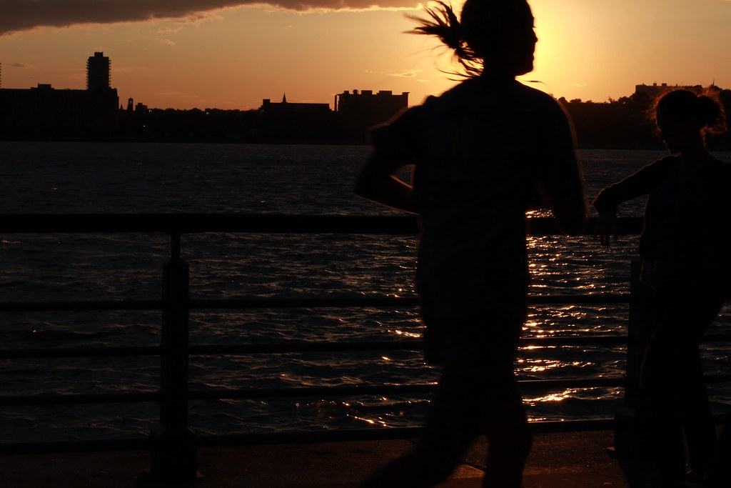 Jogger at Sunset