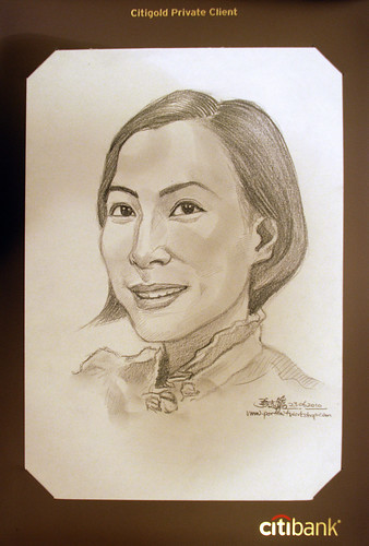 Portrait & caricature live sketching for Citigold Private Client 23 June 2010 - 4
