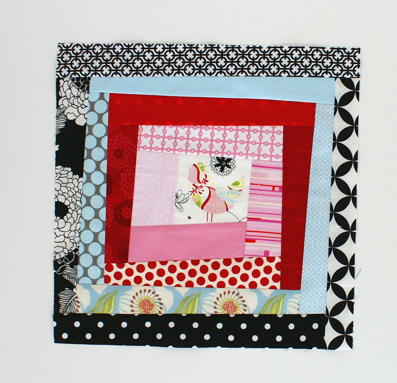 Fussy-cut Bee Block example- July Group A
