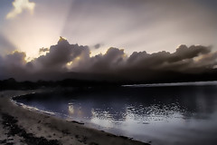 Ici et maintenant. (Jean-Marc Valladier) Tags: beach backlight clouds darkness corsica crepuscule flickrcorsica gettyimagesfranceq1