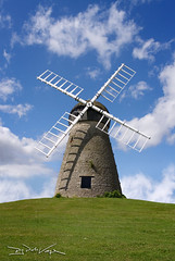 Whitburn Windmill (D.J. De La Vega) Tags: leica sky mill windmill grass clouds x1 whitburn