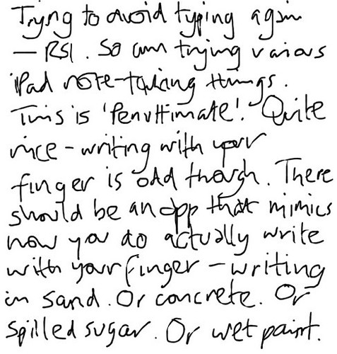 writing with your finger - corrected