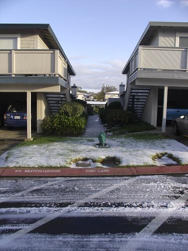 Hail in Santa Cruz 3