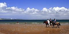 Littir Riders (Callanan Photo) Tags: littir beal strand horse children ship ride paddle splash three riders sand cloud