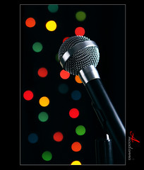 Be confident [ Explore ] (ANOODONNA) Tags: colors bokeh microphone mic canonef2470mmf28lusm canoneos50d beconfident anoodonna العنودالرشيد alanoodalrasheed
