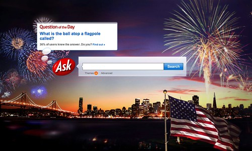 Ask.com July 4th Logo