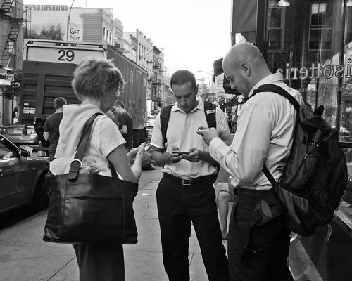 texting, all three
